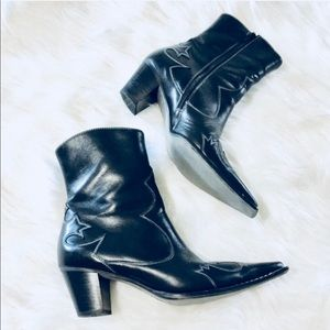 PAUL GREEN leather booties